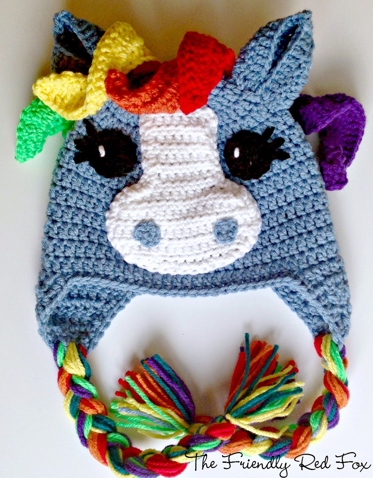 Top Free Crochet Little Pony Hat - thefriendlyredfox.com KS39
