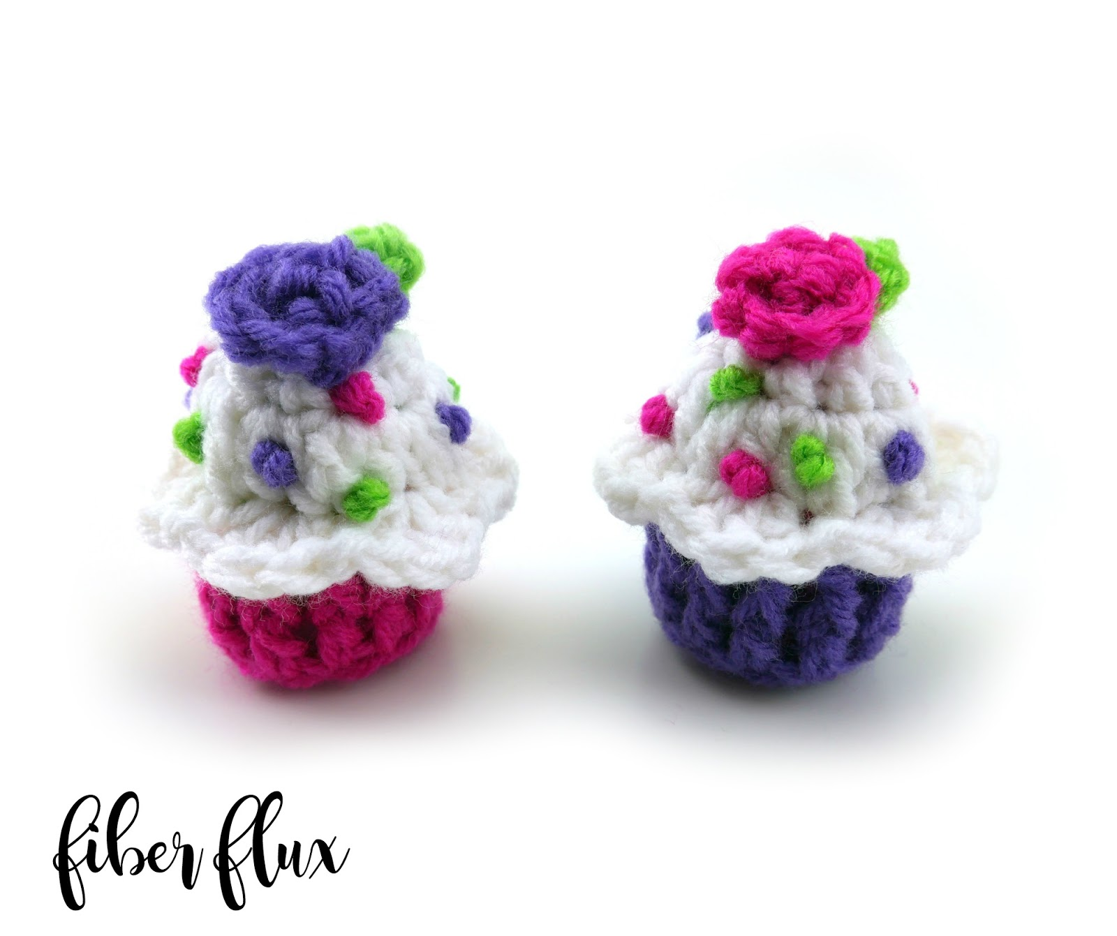 Crochet Stitches Abbreviations Fpdc : Fiber Flux: Free Crochet Pattern...Celebration Cupcake!