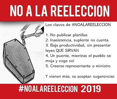 Los clavos de #NOALAREELECCION