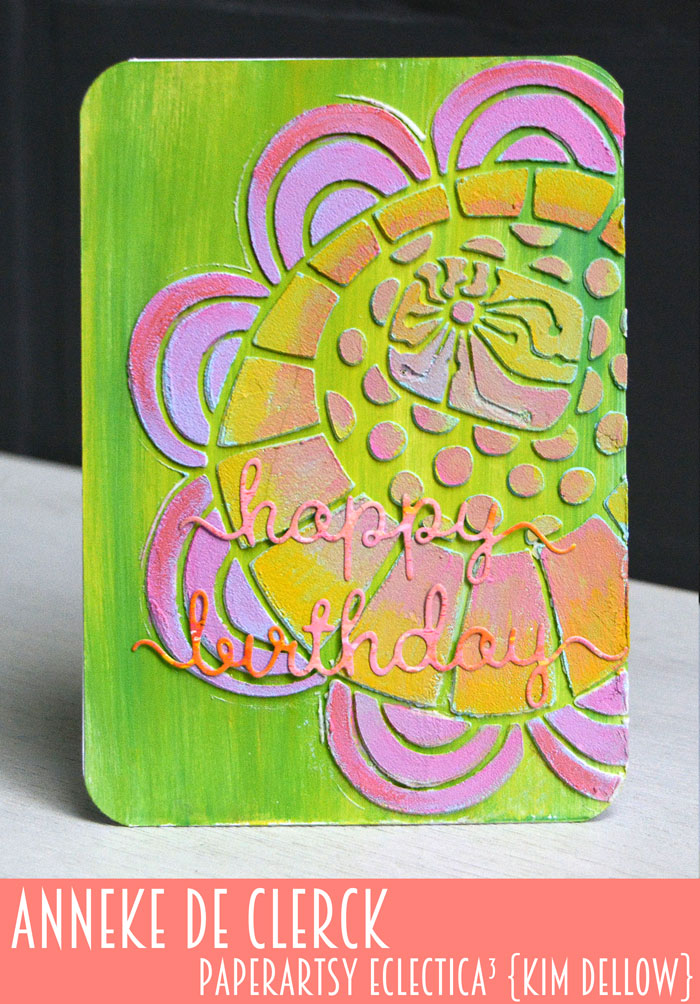 New PaperArtsy Eclectica³ {Kim Dellow} Products Showcase: Anneke De Clerck Big Bloom Texture