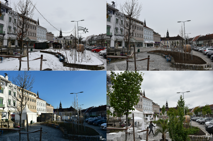 Hollabrunner Hauptplatz Jänner-April 2019