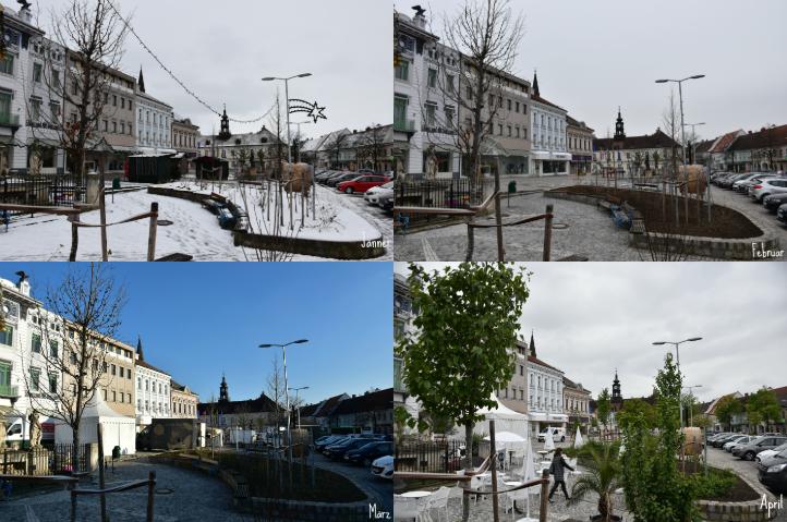 Hollabrunner Hauptplatz Jänner-April 2019
