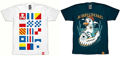 Johnny Cupcakes Martha's Vineyard Pop-Up Shop 2011 Exclusive T-Shirts - JC Nautical Flag & Seagull T-Shirts
