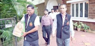 Enforcement Directorate Officials (ED)s returning from a raid