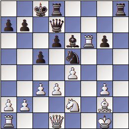 Partida Díez del Corral - Ribera en 1951, posición después de 17.hxg3