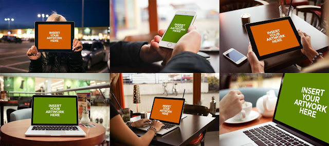 6 Apple Product PSD Mockups