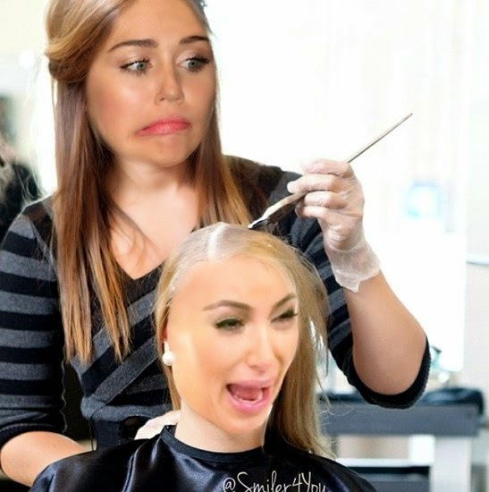 Miley Cyrus Mocks Newly Blond Kim Kardashian in Hilarious Instagram Photo