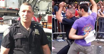 Resultado de imagem para morre policial que aparece dançando na parada lgbt de New york