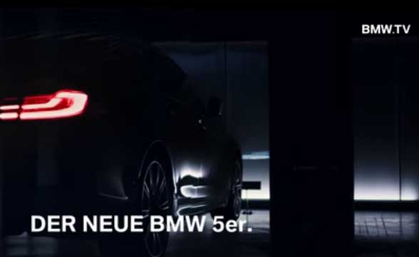 BMW teaser video Next-get 5 Series Sedan in Paris