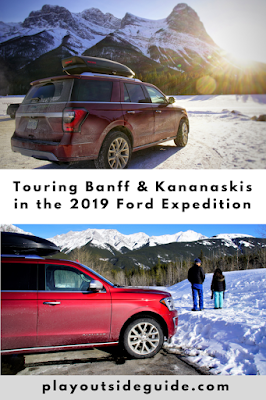 2019 Ford Expedition Platinum review and Banff/Kananaskis road trip pinterest pin