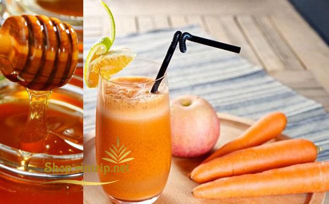 Nước ép táo, cà rốt mật ong và củ sen bổ thận cường tinh, rất tốt cho nam giới bị di tinh.