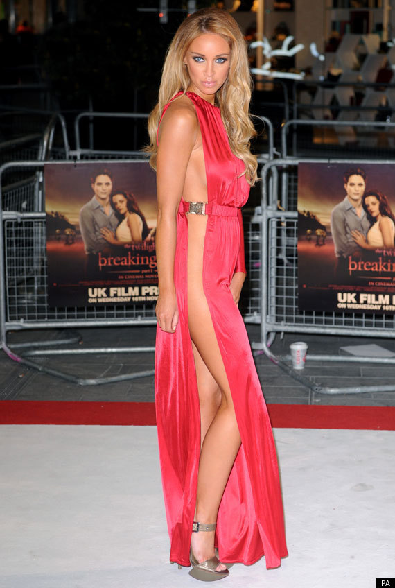 207aeeae0ea6 Lauren Pope s TOWIE mate Chloe Sims makes a fashion boob in extremely low-cut  dress