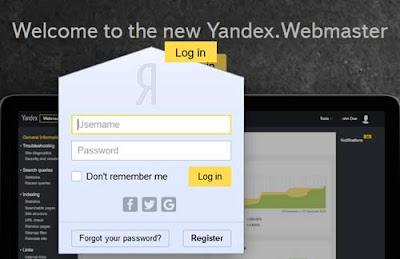 Aggiungere un sito su Yandex (webmaster tools)