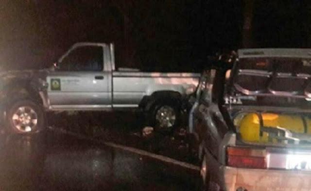 Dos heridos tras un espectacular choque en cadena en Ruta 8