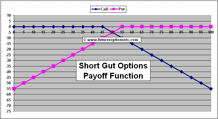 Short Gut Options Trading Example with Payoff Charts Explained Options Futures Derivatives