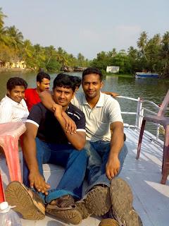 siju and lenish at Kumarakom
