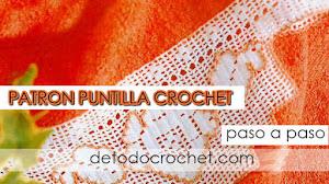 Patrones de Puntilla Decorativa a Crochet / Paso a paso
