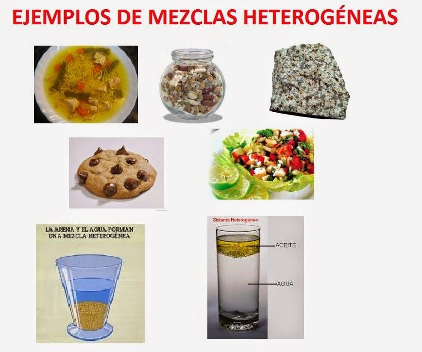 Ejemplos De Mezclas Homogeneas Y Heterogeneas Con Imagenes Colección De Ejemplo