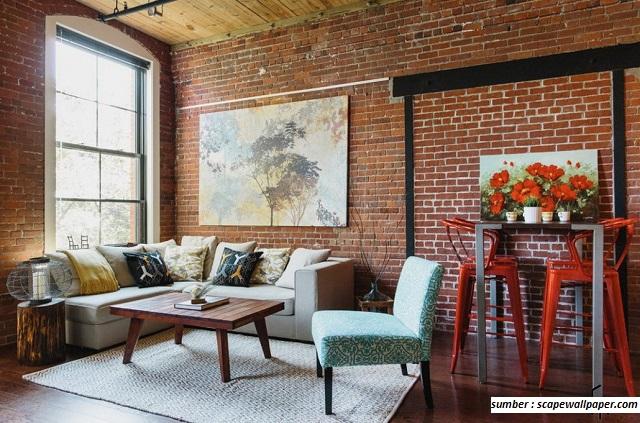 7 Contoh Gambar Dinding Rumah Dengan Bata Merah 100 Rumah Minimalis