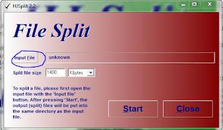 cara memecah file menggunakan hjsplit