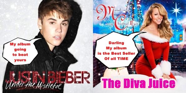 Mariah Carey Christmas Album Cover.Justin Bieber Duet With Mariah On His New Christmas Album