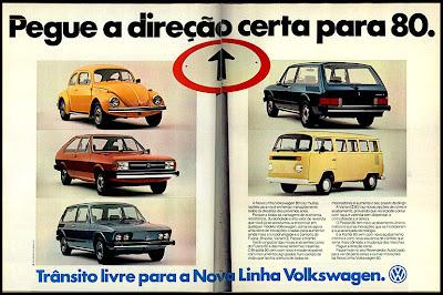 Volks.  propaganda de carros annos 70. reclame anos 70. oswaldo hernandez.