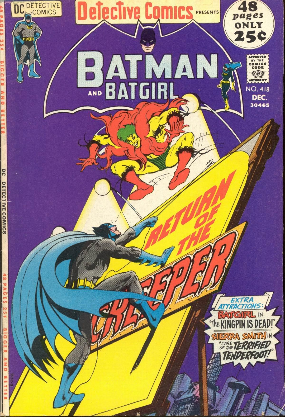 Detective Comics (1937) 418 Page 0