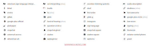 Ngulik Kode - Icon Font Awesome