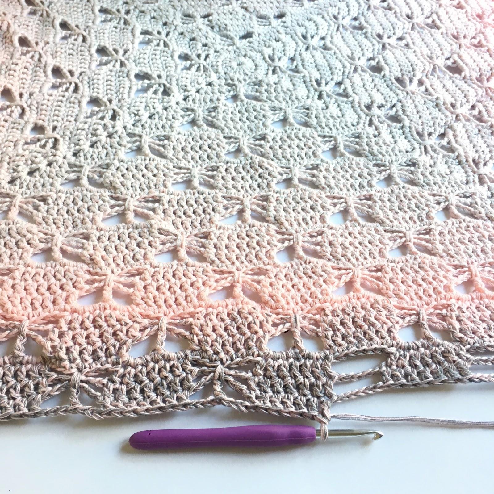 Granny Filet Square Afghan Crochet Pattern