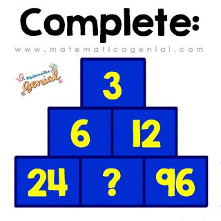 Complete a pirâmide! Qual é a lógica?