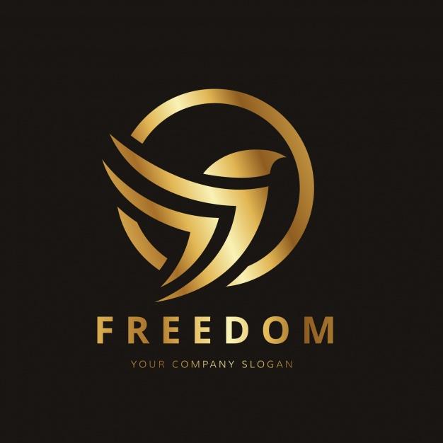 Golden bird logo design Free Vector