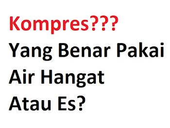 Kompres yang Benar dengan Air hangat atau Es? Ini Jawabnya