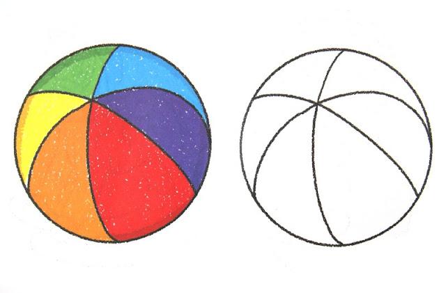 colorear pelota de colores