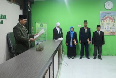Kemenag Tanjungbalai Lantik Dua Pejabat