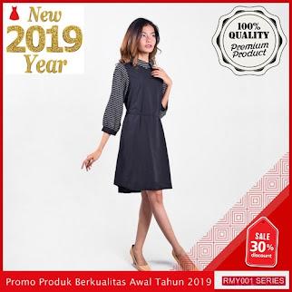 RMY056D32 Dress Salur Tangan 7 Keren Per 8 BMGShop