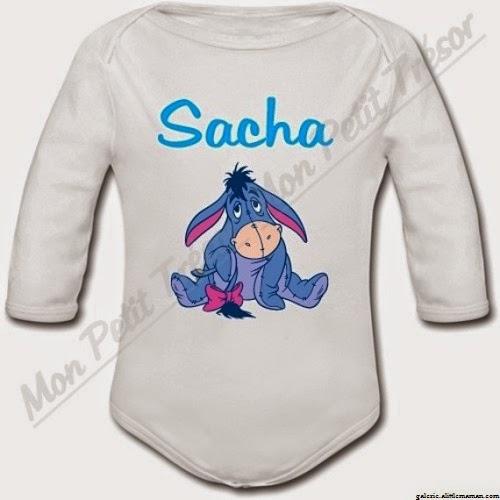 Vêtement bébé fille personnalisé avec prénom