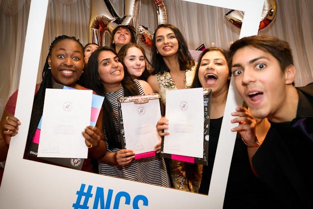 teens celebrating finishing the ncs pogramme