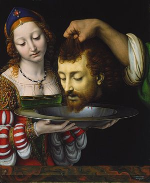 """Salome with the Head of Saint John the Baptist""  Andrea Solario"