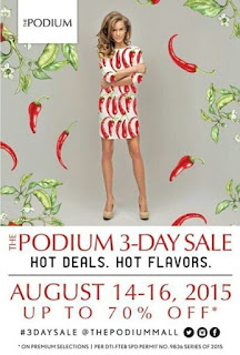 Manila Shopper The Podium Mall 3 Day Sale August 2015
