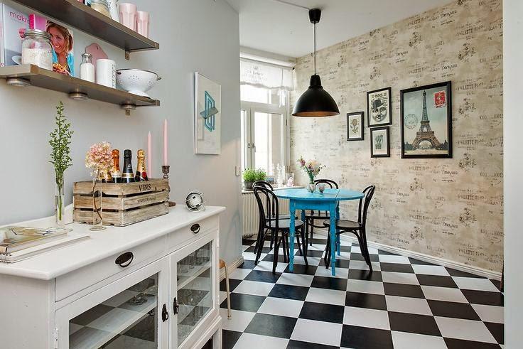 Perfeita Ordem Blog de Decorao Piso quadriculado na cozinhaUse sem medo