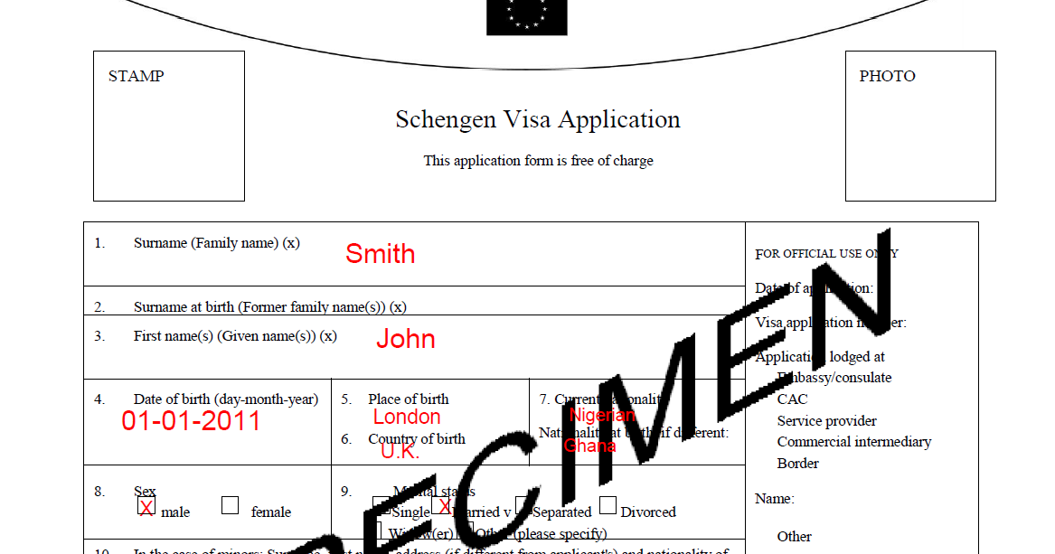 Sample1 Visa Application Form To Schengen on cyprus visa application form, chinese visa application form, indian visa application form, malta visa application form, belgium visa application form, greece visa application form, addendum example for visa application form, eu visa application form, canadian visa application form, finland visa application form,