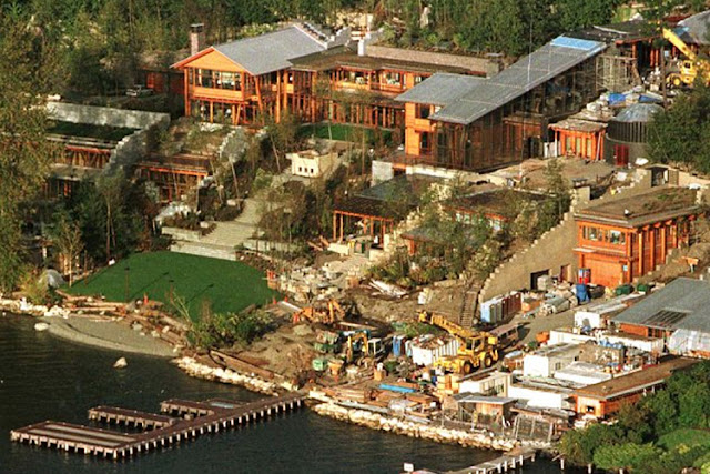 Xanadu 2.0, Seattle, Washington, casa de Bill Gates el hombre mas rico del mundo