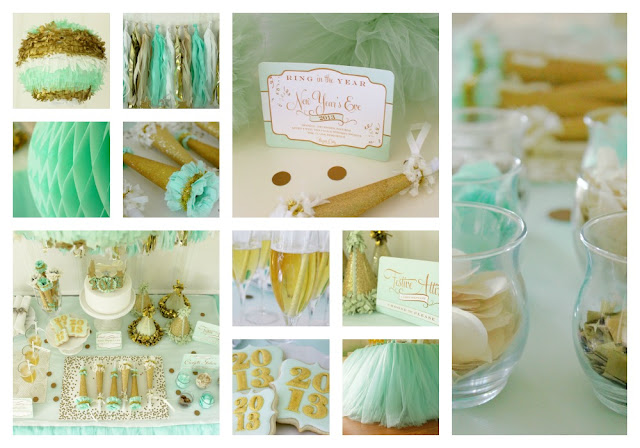 new years eve party decor ideas turquoise gold