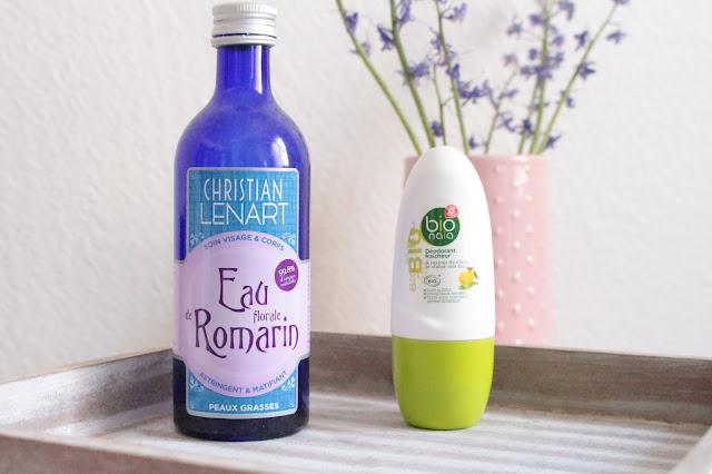 déodorant bio marque repère Leclerc + eau de romarin christian lenart