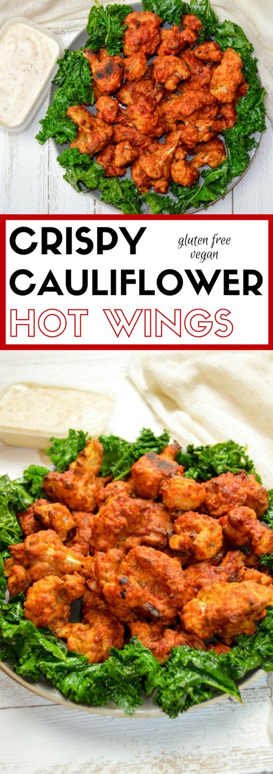 CRISPY CAULIFLOWER HOT WINGS – VEGAN AND GLUTEN FREE #crispy #cauliflower #hotwings #chicken #chickenrecipes #vegan #veganrecipes #glutenfree