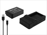 ロワジャパン CANON キヤノン LP-E17 互換 バッテリー 1個 + LC-E17 互換 USB 充電器 セット