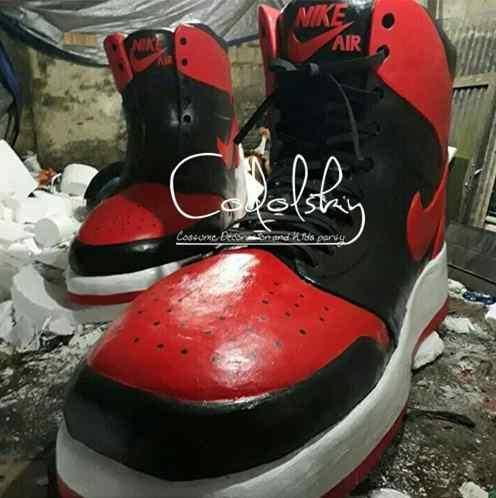 Custom Dummyreplika 4D produk sepatu nike dari busa gabus styrofoam