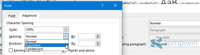 ubah font default standar
