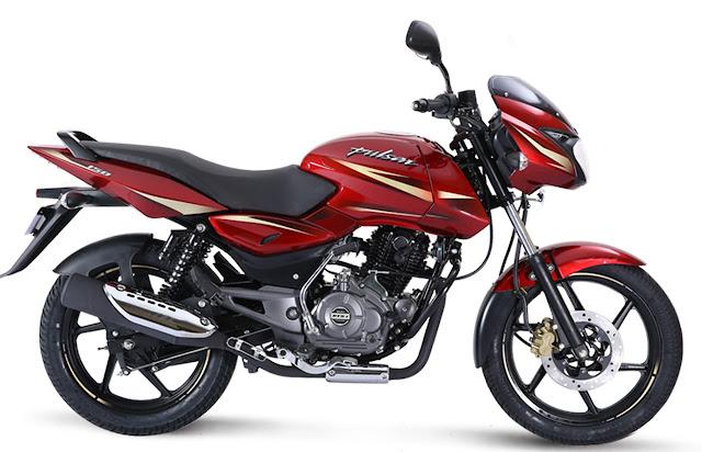 New 2018 Bajaj Pulsar 150 Red color hd pics