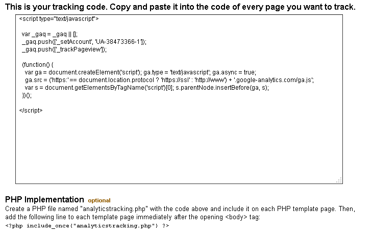 Adding google analytics to my moodle site | Moodle - PHP
